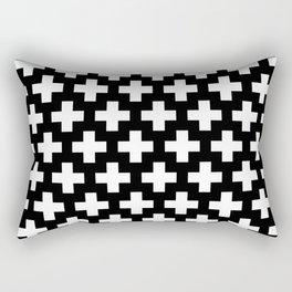 Swiss Cross W&B Rectangular Pillow