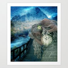 Aliyah -'she heard the call to ascend the Mt and she knew the time was now' Art Print