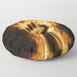 Fire fist Floor Pillow