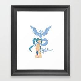 Team Mystic Girl Framed Art Print