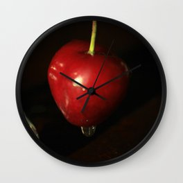 One cherry Wall Clock