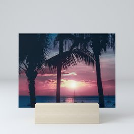 Maui Sunset Palms Mini Art Print