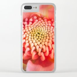 Wonderful bright pink waratah bud Clear iPhone Case