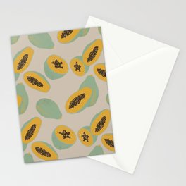 Papaya pattern Stationery Cards