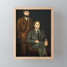 Dwight And Mose Painting Photographic Print Framed Mini Art Print