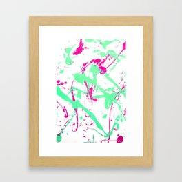 Create a Mess! Paint Splatters Pink and Blue Framed Art Print