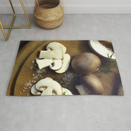 #Fresh #chili  and #mushrooms #food #picture Rug