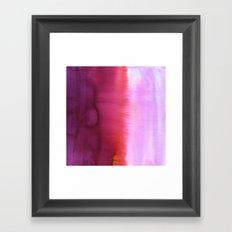 Flood Red Framed Art Print