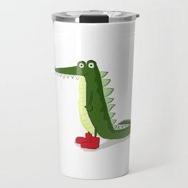 cocodrilo con botas Travel Mug