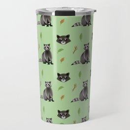 Raccoon pattern Travel Mug