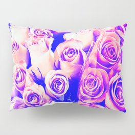 bouquet of roses texture pattern abstract in pink and purple Pillow Sham