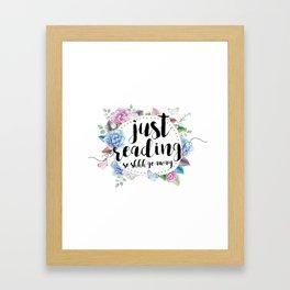 Just Reading Framed Art Print
