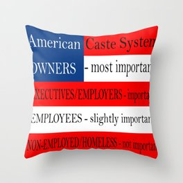 American Caste System Throw Pillow