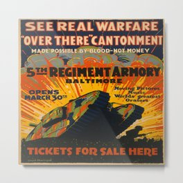 Vintage poster - Fifth Regiment Armory Metal Print