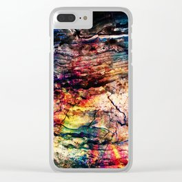 painted marble Clear iPhone Case