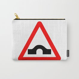 Bridge Traffic Sign Isolated Carry-All Pouch