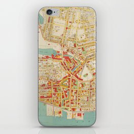 Vintage Map of Yonkers NY (1893) iPhone Skin
