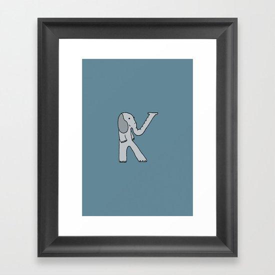 Letter K Framed Art Print