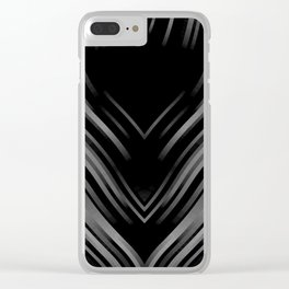 stripes wave pattern 3 bwii Clear iPhone Case