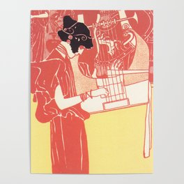 "Gustav Klimt ""Musik lithograph"" Poster"
