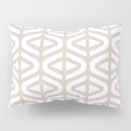 Mid Century Modern Split Triangle Pattern Light Beige 2 Pillow Sham