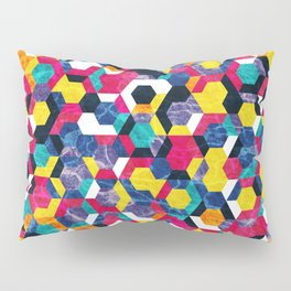 Colorful Half Hexagons Pattern #06 Pillow Sham