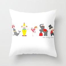Run Away and Join The Circus Throw Pillow