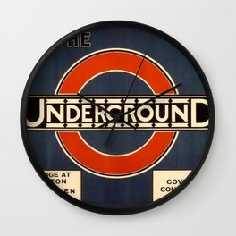 1920 London Underground Poster Wall Clock