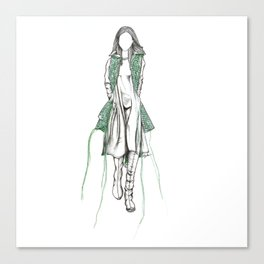 Y-3 - Sewn On Fashion Illustration Canvas Print