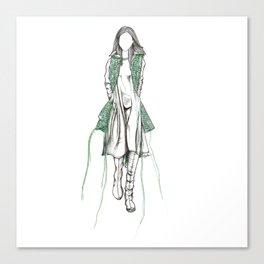 Y-3 - Sewn On Fashion Illustration Canvas Print