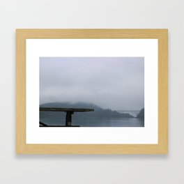 Bench With a View Framed Art Print