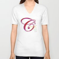 courage V-neck T-shirts featuring Courage by ZooLN Art