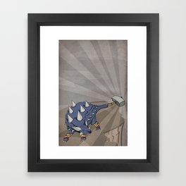 Ankylothorus - Superhero Dinosaurs Series Framed Art Print