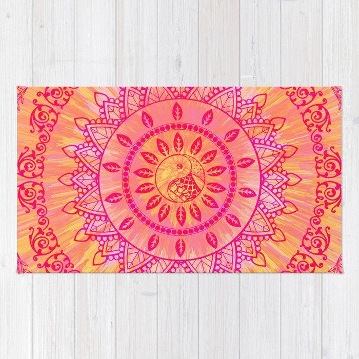Orange Pink Rug Area Rug Ideas