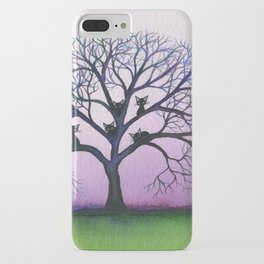 Kennewick Whimsical Cats in Tree iPhone Case