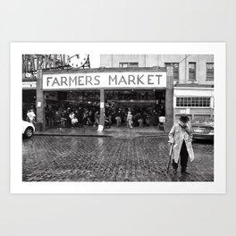 A Walk to the Farmer's Market Art Print