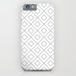 Light Grey Diamond Pattern 2 iPhone Case