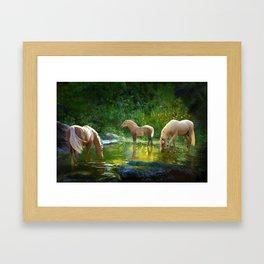 The Family Pond Framed Art Print