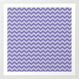Purple Moroccan Moods Chevrons Art Print