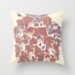 The orchard is such a very silly place Throw Pillow