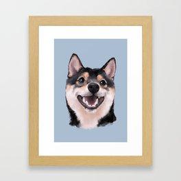 Smiling Shiba Inu Framed Art Print