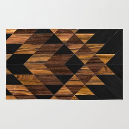 Urban Tribal Pattern 11 - Aztec - Wood Rug