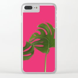 Monstera madness VI Clear iPhone Case