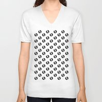 records V-neck T-shirts featuring Pattern Records by Idan David