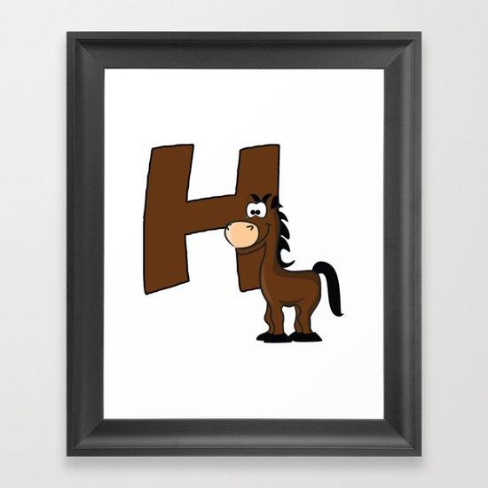H Is For Horse Framed Art Print