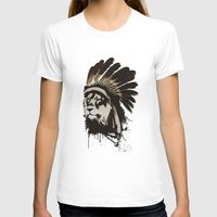 headdress T-shirts featuring Lion Headdress by Alyn Spiller