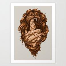 Lion Queen Art Print