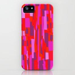 Hot Red Modern Mosaic Pattern iPhone Case