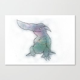 Monsters From the Floor Tiles Canvas Print