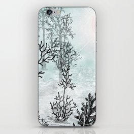 Winter in the woods . iPhone Skin